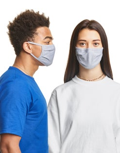 Hanes Adult Large X-Temp™ Face Masks, 10-Pack