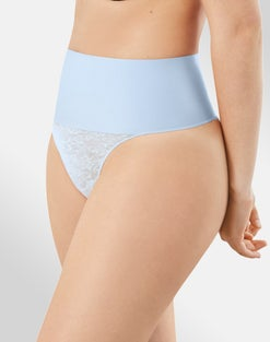 Shaping Lace Thong with Cool Comfort®