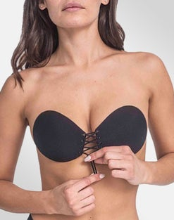 Lace Up Adhesive Bra